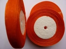 rol met 45.72 meter donker oranje organzalint van 10mm breed OPRUIMING