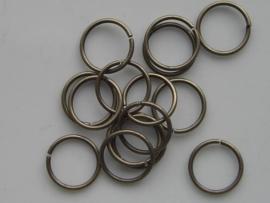 15 x ringetjes 12mm geelbrons