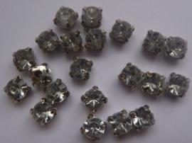 CH.020- 20 stuks rijgstrass / naaistrass van 6mm kristal