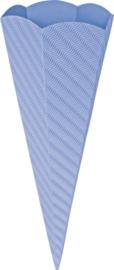 KN204869932- 5 stuks XL puntzakken van golfkarton met reliëf 41cm lichtblauw