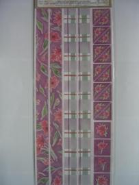 5081- bloemen, randen en hoeken 30x13cm Sharon Ann collection