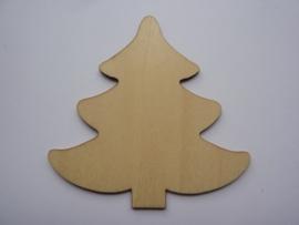 5999.V- houten ornament denneboom van 9x9cm en 2mm dik OPRUIMING