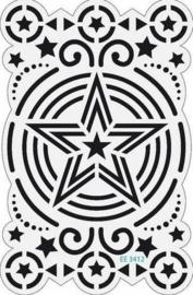 2604- Marianne Design Engels embossing stencil ster 9x14cm OPRUIMING