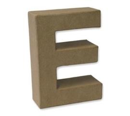 1929 3105- stevige decoratie letter van papier mache - 3D letter E