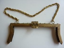 37 - tasbeugel met ketting 19cm bronskleur