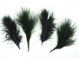 AM.129- 15 stuks verentoefjes van 7 tot 10cm zwart