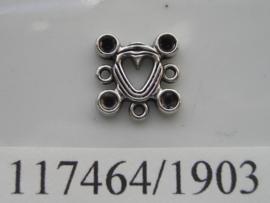 metalen ornament met 1 en 3 ogen 117464/1903KA