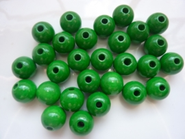 KN6021 447- 28 stuks houten kralen 12mm groen
