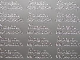 197- hoera een zoon zilver 10x20cm
