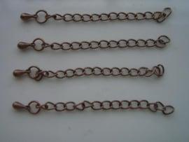 5 x verleng kettinkjes koper 11808-1513