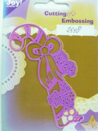 0002558- Joy Crafts stencil nr. 0045 - kerst zuurstok 11x4cm OPRUIMING