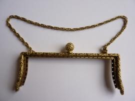 33 - tasbeugel met ketting 15cm bronskleur