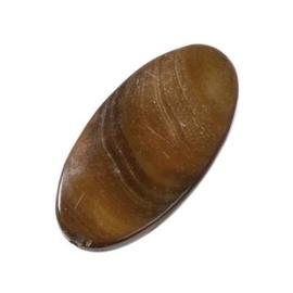 006080/0953- zeer mooie zware kwaliteit grote parelmoer kraal bruin ovaal 30x16mm