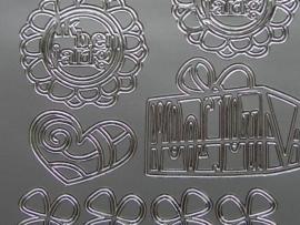 st513- diverse afbeeldingen zilver 10x20cm