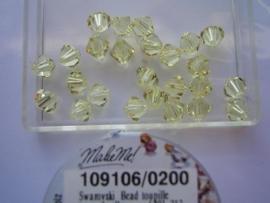 109106/0200 - 25 x swarovski 6mm jonquil geel