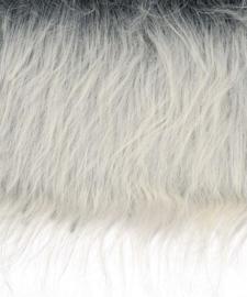 8410 640- lap van 14x20cm pluche / imitatie bont langharig zilvergrijs