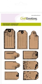 CE130501/1107- clearstamps A6 craft labels