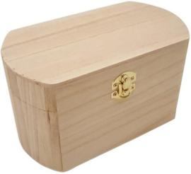 CE811725/0405- houten kistje ovaal 19x10.6x10.9cm paulownia