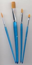 CE330109/8506- nylon penselenset 4 stuks assortiment