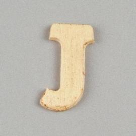 006887/1295- 2cm houten letter J