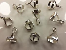 CH.138-P - 10 stuks steenkapjes hexagon 6 hoek staal/platium