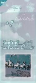 0-6003/2006- Joy! Crafts cutting & embossingstencil open up arreslee 140x280mm