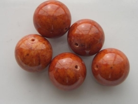 2661- marble dyed 16mm warm bruin