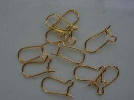 10 x oorhaakjes goud CN.221