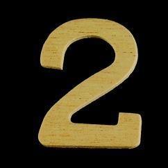8735 636- 4cm houten cijfer 2