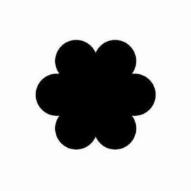 1205 5304- figuurpons Make Me bloem 4.8x4.8cm