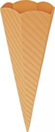 KN204869941- 5 stuks XL puntzakken van golfkarton met reliëf 41cm oranje