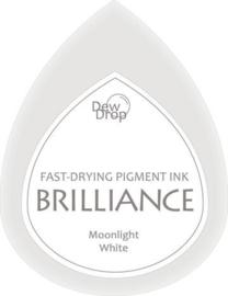 132019/1080- brilliance stempelkussen dew drops moonlight white 3.5x5cm