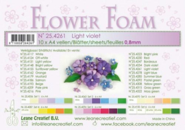 CE800205/4261- 10 sheets flower foam sheets A4 - lichtpaars