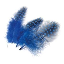 006623/0379- 20 stuks parelhoen sierveertjes blauw van 3 - 5cm