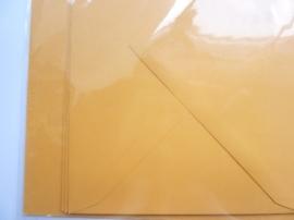 008201- 3 x A4 formaat kaarten gerild + 3 x enveloppen A5 formaat oranje OPRUIMING -50%