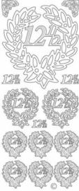st898- stickervel met jubileum 12,5 goud 10x23cm  -  121001/0823