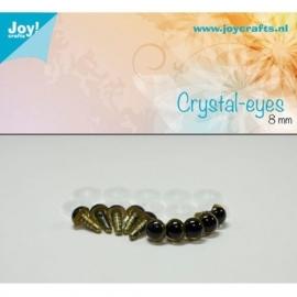 Joy6300/0601- 10 stuks kristal ogen 8mm beige