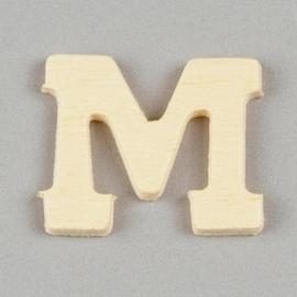 006887/1325- 2cm houten letter M
