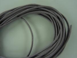 CH.035- 3 meter leren veter parelmoer lila 2mm dik AA kwaliteit - SUPERLAGE PRIJS!