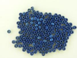 6010 438- 165 stuks houten kralen van 4mm donkerblauw