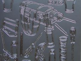 st 699- gereedschap/mannendingen zilver