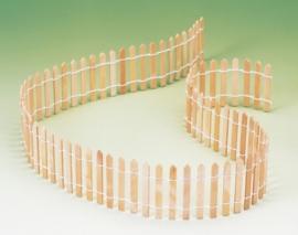 8021 627- houten hekwerk miniatuur 90cm lang en 5.5cm hoog