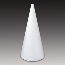 CE830006/0021- styropor / piepschuim kegel van 21cm hoog en 9cm breed