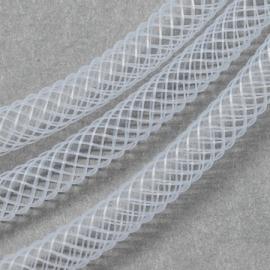 2 meter nylon gaasbuis netdraad 8mm wit