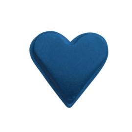 6258 352- 25 stuks snaps eyelets hartjes blauw van 8x10mm