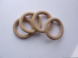 8597 553- blank houten (gordijn) ring 5.5cm doorsnee