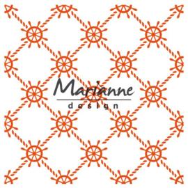 CE115639/3435- Marianne Design embossingfolder nautical