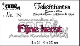 CE115634/3119- Crealies tekststans NO.19 fijne kerst 9x25mm