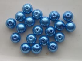 2226- 20 x glasparels 8mm turqoise blauw