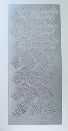 St748-A- stickervel met rozetten Leane zilver 10x23cm - 121001/2420
